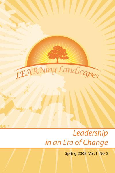 Settings Vol 1 No 2 (2008): Leadership in an Era of Change