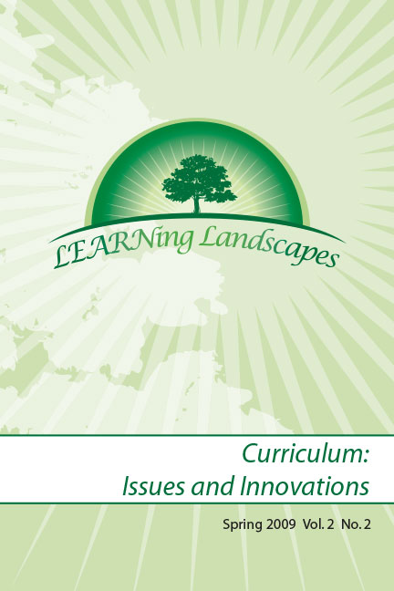 Settings Vol 2 No 2 (2009): Curriculum: Issues and Innovations