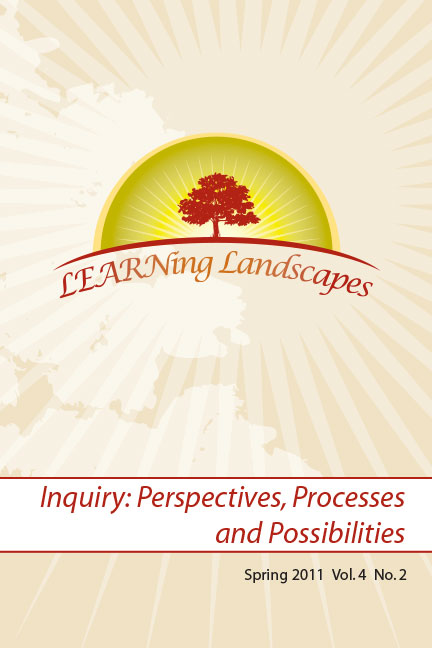 Settings Vol 4 No 2 (2011): Inquiry: Perspectives, Processes and Possibilities